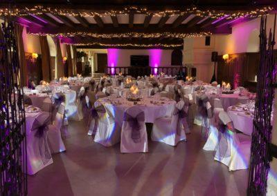 Eclairages de salle de mariage