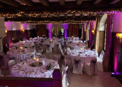 Projecteurs d'ambiance LED pour un mariage