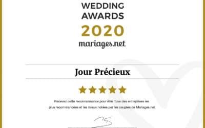 Jour Précieux obtient un Wedding Awards